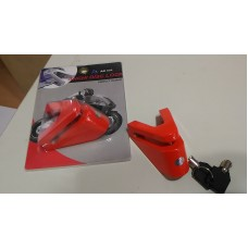 Candado Trava De Disco Freno Moto Ac 036 Tl36384 Rojo
