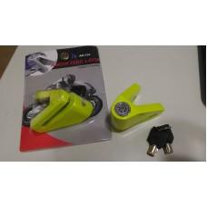 Candado Trava De Disco Freno Moto Ac 036 Tl36384 Verde