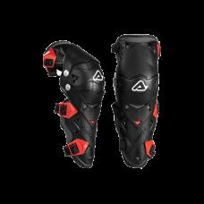 Rodilleras Moto Articuladas Impact Evo 30 Negro Rojo Acerbis Originales