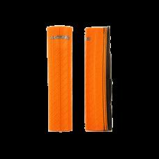 Cubre Barrales De Goma Con Acabado De Efecto Carbono Naranja Acerbis 21750010