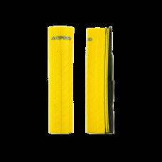 Cubre Barrales De Goma Con Acabado De Efecto Carbono Amarillo Acerbis 21750060