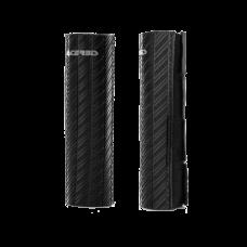 Cubre Barrales De Goma Con Acabado De Efecto Carbono Negro Acerbis 21750090
