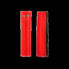 Cubre Barrales De Goma Con Acabado De Efecto Carbono Rojo Acerbis 21750110
