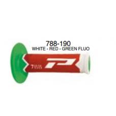 Grip Cross 788 Extra Slim Blanco Rojo Verde Fluo Progrip 788.Bla-Roj-Vfl