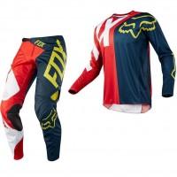 Conjunto Motocross Fox 360 Preme Rojo Azul hombre Original