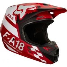 Casco Fox V1 Sayak Mx Cross Rojo Atv Top Racing