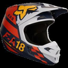 Casco Fox V1 Sayak Helmet Ece Naranja Xl Original