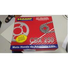 Kit Transmision Honda Twister Cbx250 Original Con Cadena H0640-Kpf-910