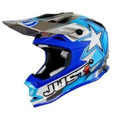 Casco Motocross Enduro Just1 J32 Moto X Azul