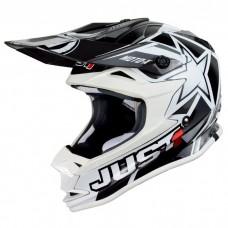 Casco Motocross Enduro Just1 J32 Motostar Blanco Negro