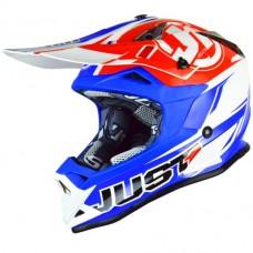 Casco Motocross Enduro Just1 J32 Pro Rave Rojo Azul