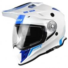 Casco Motocross Enduro Just1 J34 Shape Neo Azul Blanco