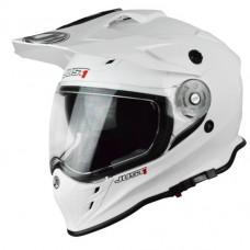 Casco Motocross Enduro Just1 J34 Solid Blanco Brillo