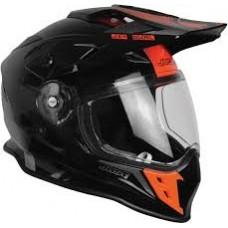 Casco Motocross Enduro Just1 J34 Shape Neon Rojo Negro