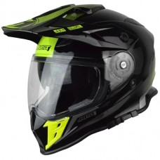 Casco Motocross Enduro Just1 J34 Shape Neon Amar Negro