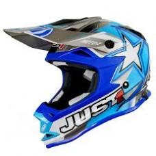 Casco Motocross Enduro Just1 J32 Pro Motostar Azul