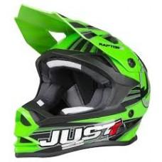 Casco Motocross Enduro Just1 J32 Pro Motostar Verde