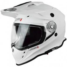 Casco Motocross Enduro Just1 J14 Adventure Blanco