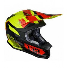 Casco Motocross Enduro Just1 J32 Pro Kick Negro Rojo Amarillo
