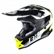 Casco Motocross Enduro Just1 J32 Pro Kick Blanco Amarillo