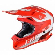 Casco Motocross Enduro Just1 J32 Pro Kick Blanco Rojo
