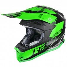 Casco Motocross Enduro Just1 J32 Pro Kick Verde Blanco