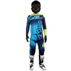 conjunto motocross onix azul radikal 3022