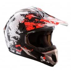 Casco Motocross 433 Blast Blanco Negro Naranja S Ls2 Ls2404334352.S