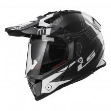Casco Motocross 436 Trigger Blanco Negro Rojo L Ls2 Ls2404362102.L