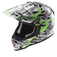 Casco Motocross 437 Glitch Blanco Negro Green L Ls2 Ls2404372160.L