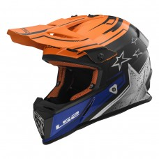 Casco Motocross 437 Fast Core Negro Naranja L Ls2 Ls2404372552.L