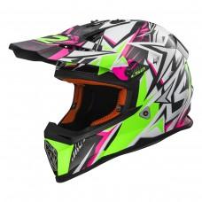 Casco Motocross 437 Fast Strong Wh Gr Rosado L Ls2 Ls2404372660.L