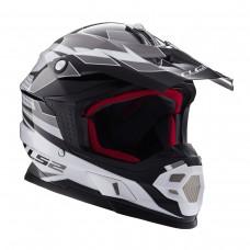 Casco Motocross 456 Factory Blanco Negro L Ls2 Ls2404564808.L