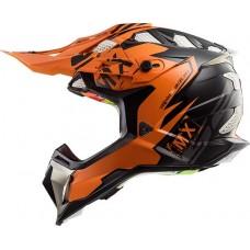 Casco Moto Ls2 470 Subverter Emperor Naranja