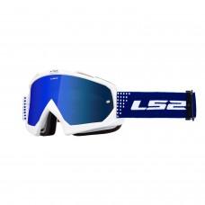 Antiparras Motocross Dots Blanco Ls2 Ls2630511501.01