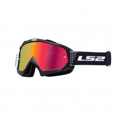 Antiparras Motocross Dots Negro Rojo Ls2 Ls2630511529.01